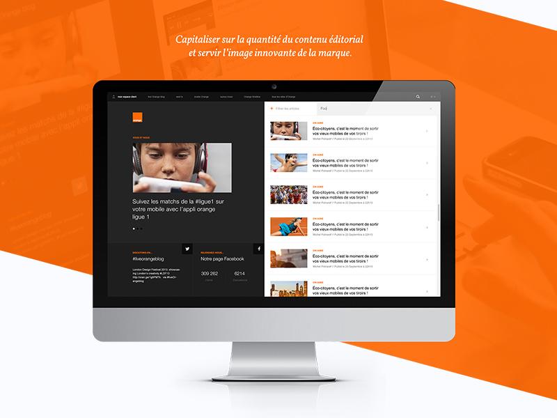 Portoflio   Orange Blog redesign case-study social ux ui interface responsive blog webdesign portfolio