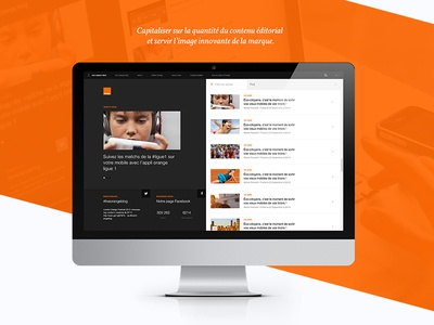 Portoflio | Orange Blog redesign case-study social ux ui interface responsive blog webdesign portfolio