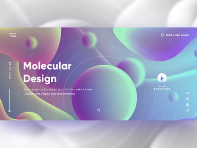 Molecular wow digital shape web graphic gradient color design