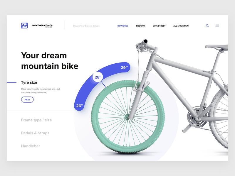 Norco customizer ux web design ui