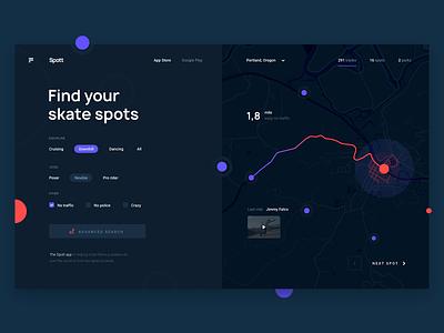 Skate App interaction design gui inteface website webdesign ux  ui app digital web design