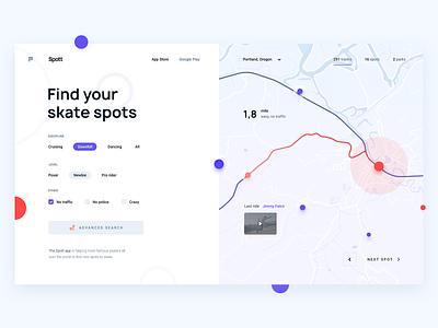 Skate App Day Theme panel dashboard website webdesign web ux ui interaction design inteface gui digital design app