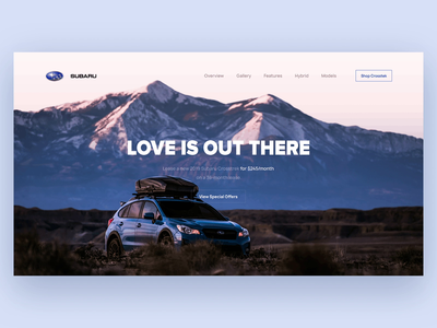 Subaru Landing Page スバル prototype animation website webdesign ux ui principle interaction design landing page car subaru digital web ui ux design