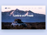 Subaru Landing Page