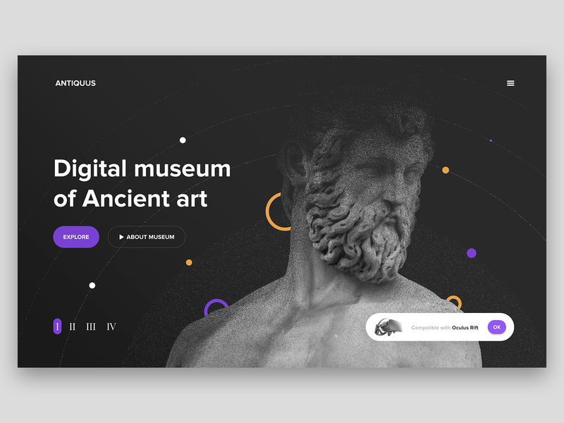 Digital Museum Concept by Fred Zachinov for Shakuro on Dribbble