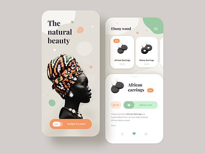 The Natural Beauty App mobile app mobile digital interaction design ios app earrings women jewelry application shape concept webdesign ui ux web design