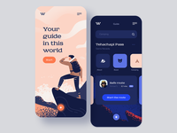 Backpacker app concept