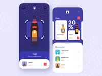 Smart Shopping App mobile ui mobile app application app design user inteface colors bottle alcohol shop mobile ios app smart scanner shopping app illustration interaction design ui ux design