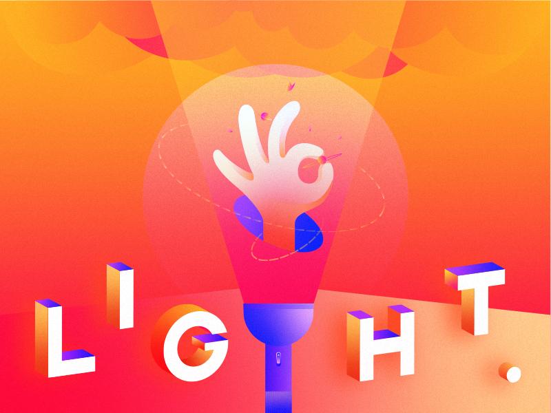 light design logo illustration app ui
