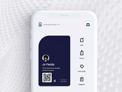 Octo / Social social mobile app ui ux design product design