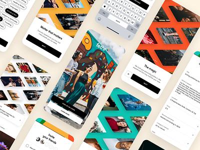 Fethr / Social AI app marketplace social ui mobile app ux product design design