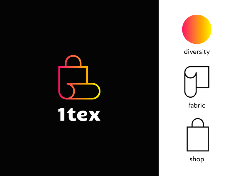 Logo for Online-Shop of Fabrics shop logotype logodesign