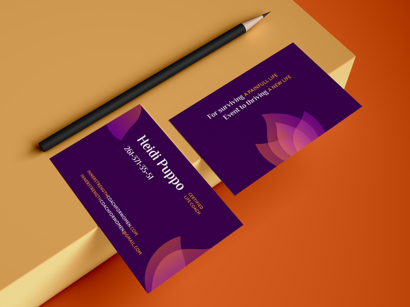 Business Card for Life Coach businesscard poligraphy