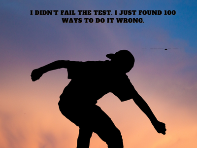 I don't fail the test. I just found 100 ways to do it wrong.