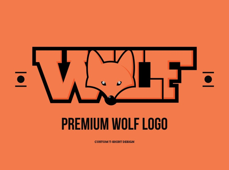 Premium wolf logo vector ux ui typography logo illustrator illustration branding graphicsdesign behance dribble