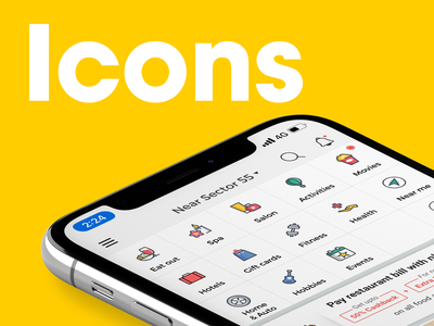 Icons hobbies health gift activities events ui uidesign fitness hotel salon spa movies food illustration icon