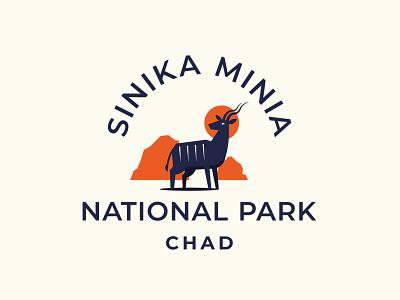 Sinika Minia park animal logo kudu animal flat minimal branding logo design