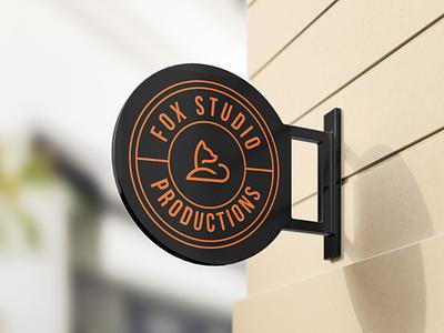 Fox Studio Production Logo concept professional modern custom creative flat productions studio fox minimalist minimal icon typography vector branding design illustration logo