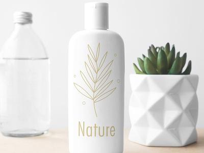 Minimal Nature Logo Concept adobe illustrator graphic logo cosmetics nature professional modern minimalist minimal illustration design custom concept creative branding