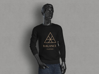 Balance Logo Concept mockups clothing clothes balance adobe photoshop illustrator graphic mockup art modern minimalist minimal logo illustration design custom creative concept branding