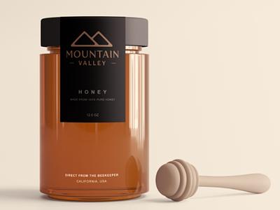 Mountain Valley Logo simple minimalist honey mockup modern photoshop minimal logo illustration illustrator design graphic custom creative concept branding valley mountain art adobe