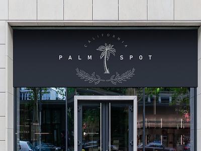 Palm Spot Logo Concept palm trees west drink vintage design vintage ui retro product design modern minimalist minimal logo illustration design custom creative concept coffee branding art