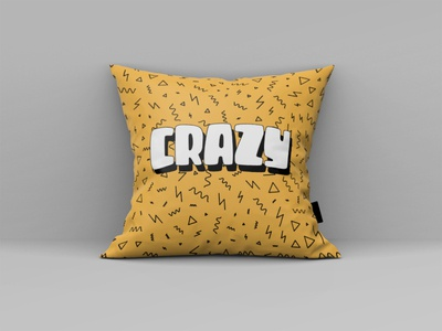 Crazy Logo Concept coffee creative design logo concept pattern design pattern mural mockup pillow mockup crazy pillow logo modern minimalist minimal illustration design custom creative concept branding