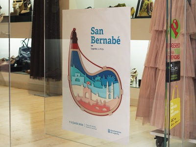 San Bernabé 2019 modern traditional celebration color palette streetart street poster street spain logroño festival poster festival poster art poster design poster color design illustration photography art direction graphic design