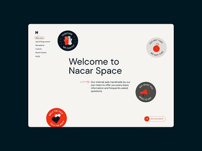 Value stickers into Nacar internal webpage ui branding motion design user interface interaction