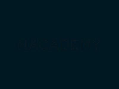 Animation x Nacademy Logo branding logo animation motion design