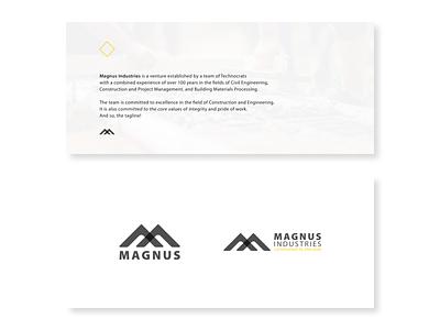 Magnus: Logo Lockups logo lockup logodesign logotype logos logo design logo illustrator graphic  design dhanush construction cement branding brand identity