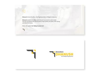 Dhanush from Magnus: Logo Lockups logo lockup logotype logos magnus logo design logo illustrator graphic  design dhanush construction cement branding brand identity