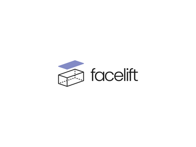 Studio Facelift studio minimal isometric logo design logo illustrator branding brand identity graphic  design