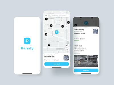 Parking and Transport Mobile App Design UI/UX user interface ui ux local business tracking app mobile app app mapping location nearby gmaps google maps clean ui parking parking lot car spot parking app