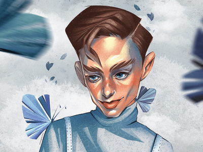 Portrait for Dima Ermuzevich drawing draw art butterfly procreate artwork portrait illustration