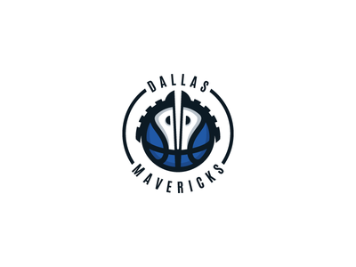Dallas Mavericks Logo Design horses horse dallas mavericks nba logo identity icon design brand basketball ball