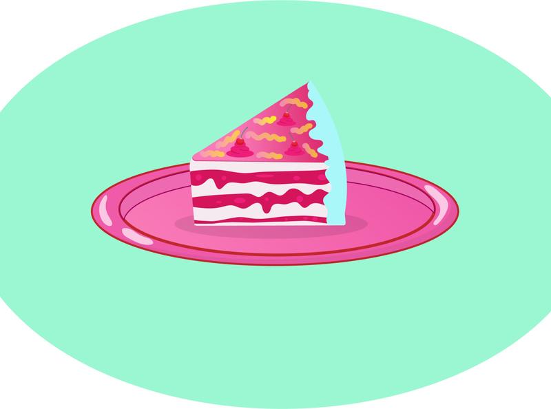 Cake design illustrator graphicdesign branding fun colors taste meal food tasty sweety sweet usa cakery cake logo cake