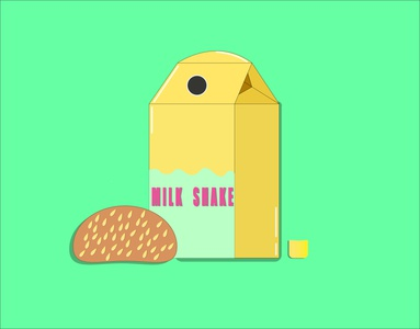 snack bun milkshake milk logo artwork tasty summer illustration designer illustrator graphicdesign fun food