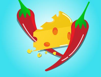 cheesy food artwork shiny cartoon summer illustration fun designer illustrator graphicdesign food design