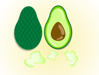 Avacado tasty shiny cartoon summer illustration designer illustrator graphicdesign avocado fruits food
