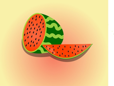 watermelon grapes fruits watermelon tasty shiny cartoon summer illustration designer illustrator graphicdesign food design