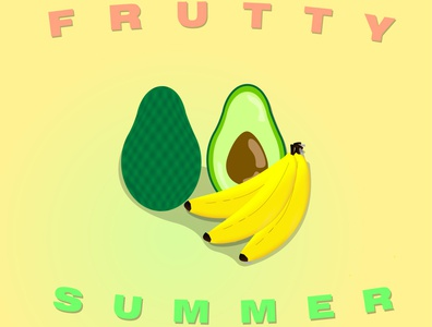 Frutty Summer tasty shiny cartoon summer illustration designer illustrator graphicdesign food design