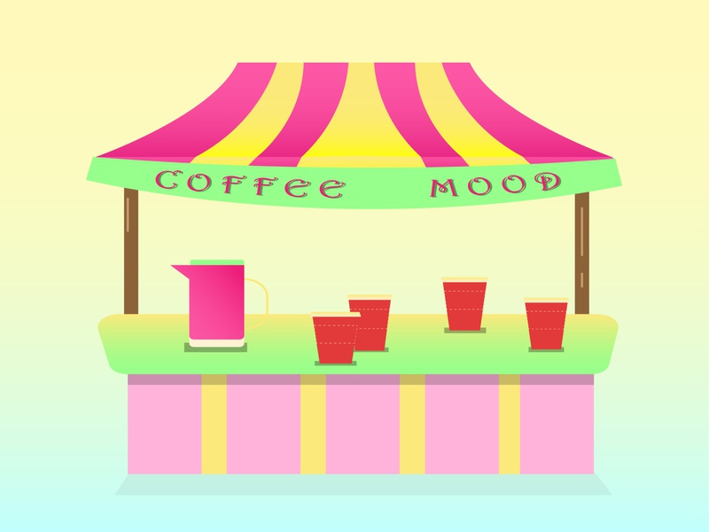 coffee stall coffee cup artwork tasty shiny cartoon summer illustration designer illustrator graphicdesign food design