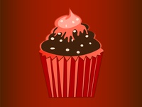 cupcake brown tasty shiny cartoon summer illustration food designer illustrator graphicdesign design