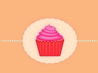 a nasty cupcake artwork tasty shiny cartoon summer illustration food designer illustrator graphicdesign design