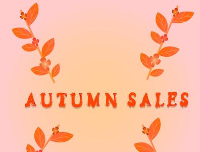 autumn selfmade orange colors brushes design fall autumn