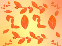 Autumn 2020 mood chilly seasons nature weather orange red trees tasty shiny cartoon summer illustration food designer illustrator graphicdesign design