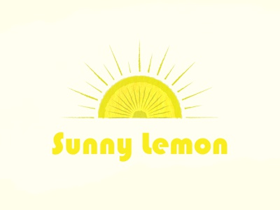 Sunny Lemon branding logo illustration design