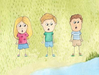 Surprised Children childrens illustration childrens book illustration children watercolours watercolor illustration childrens book