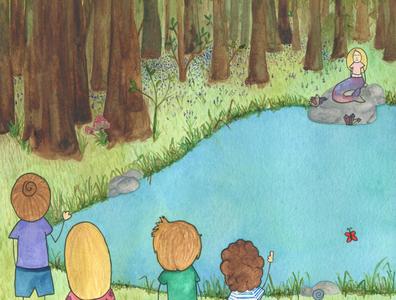 Discovering a Mermaid mermaid water splash childrens illustration childrens book illustration children swimming watercolours watercolor illustration childrens book